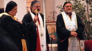 Syriac Patriarch Ignatius Joseph III Younan celebrates the Divine Liturgy at St. Toma Syriac Catholic Church in Farmington Hills, Mich., Sept. 21. (CNS photo | Dan Meloy, The Michigan Catholic)
