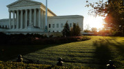 The U.S. Supreme Court building at sunrise is seen in Washington Oct. 5, 2014. (CNS | Jonathan Ernst, Reuters)